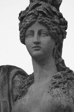 The statue of the goddess Hera in Greek mythology, and Juno in R