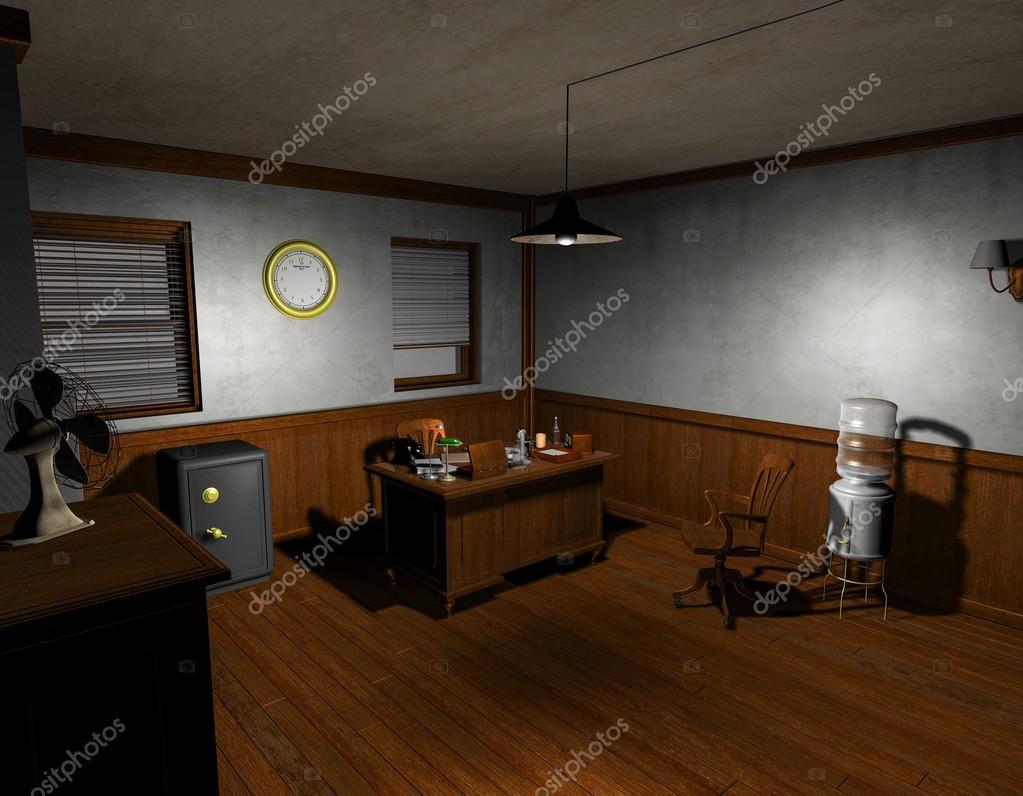 Film noir detective office u2014 stock photo © digitalartb #18490995
