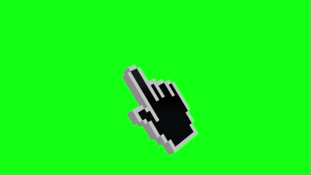 Animation cursor on green background