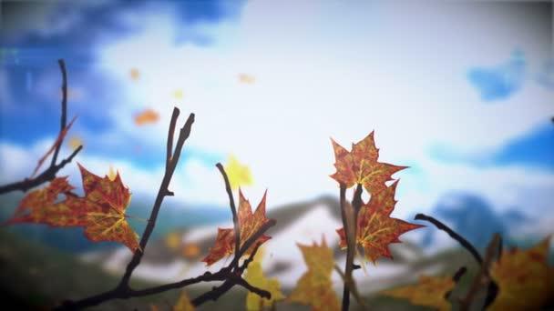 podzimní listí.