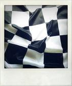 Fotografia bandiera a scacchi bianco e nero
