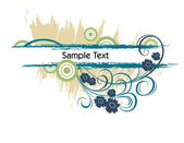 Abstract Floral Background. Vector Illustration. Eps10.