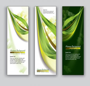Abstract Banners. Vector Backgrounds. Eps10.