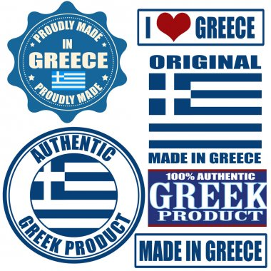 Made in Greece stamps and labels