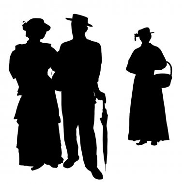 Vintage silhouettes