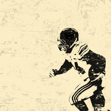 American football grunge poster