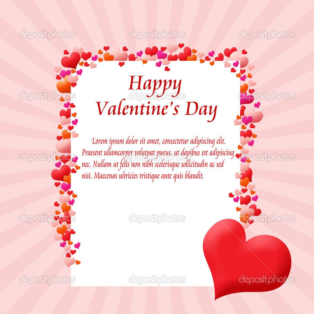 marco tarjeta de corazones — Archivo Imágenes Vectoriales ...