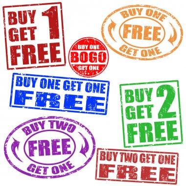 Promotional sale stamps set