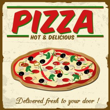 Pizza vintage grunge poster