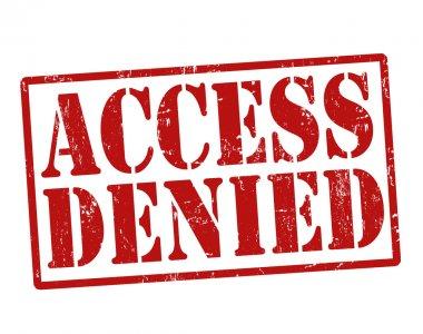 Access denied stamp