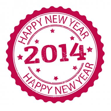 Happy new year 2014 stamp