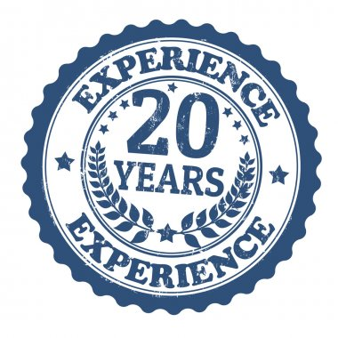 20 Years Experience stamp