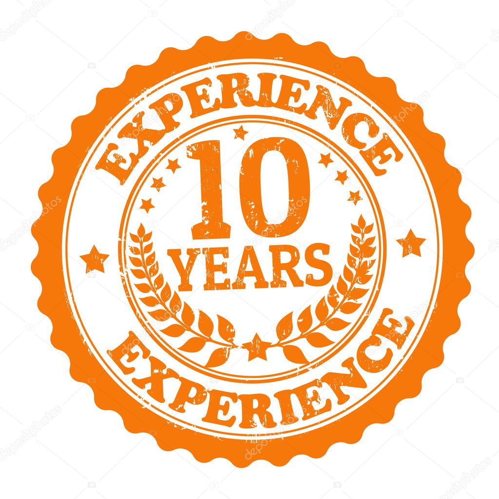 10 years experience stamp  u2014 stock vector  u00a9 roxanabalint  29495713