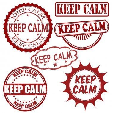 Keep calm stamps set