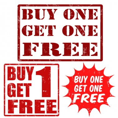 Buy one get one free stamps