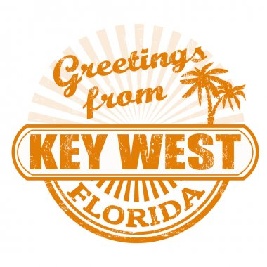 Greetings from Key West stamp