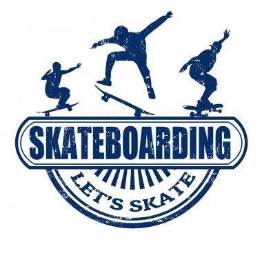 Skateboarding stamp