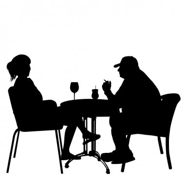 Couple in cafes