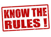 Know the rules stamp