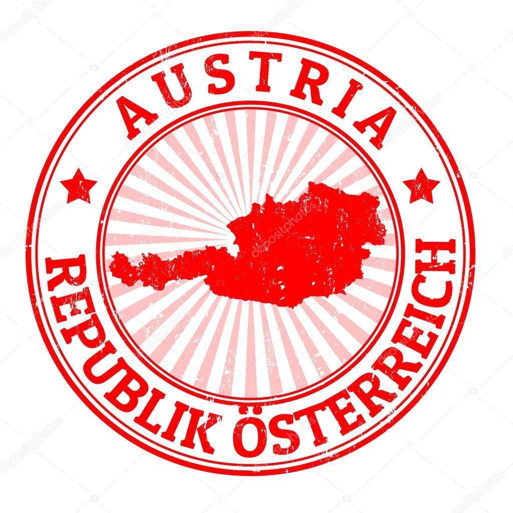 Austria Stamp Stock Illustration