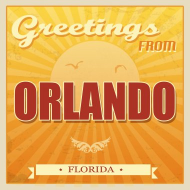 Vintage Orlando, Florida poster