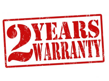 2 Years Warranty stamp