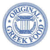 Fotografie Original Greek Food stamp