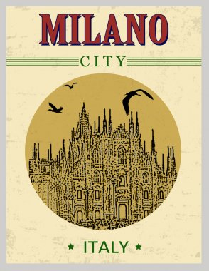 Cathedral of Milano poster