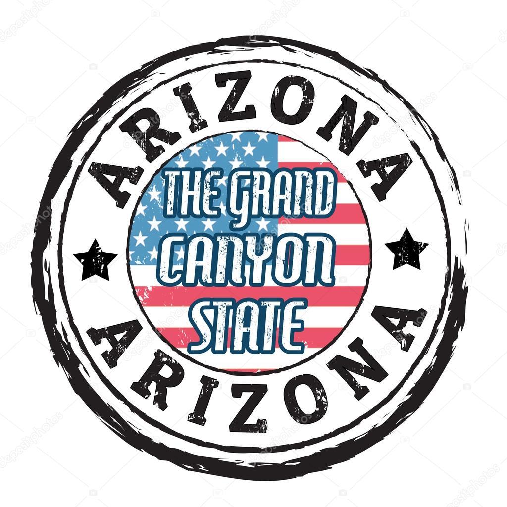 arizona the grand canyon state stamp stock vector roxanabalint rh depositphotos com grand canyon university clipart