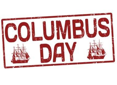 Columbus day stamp