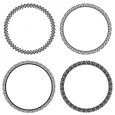 Set of round frames