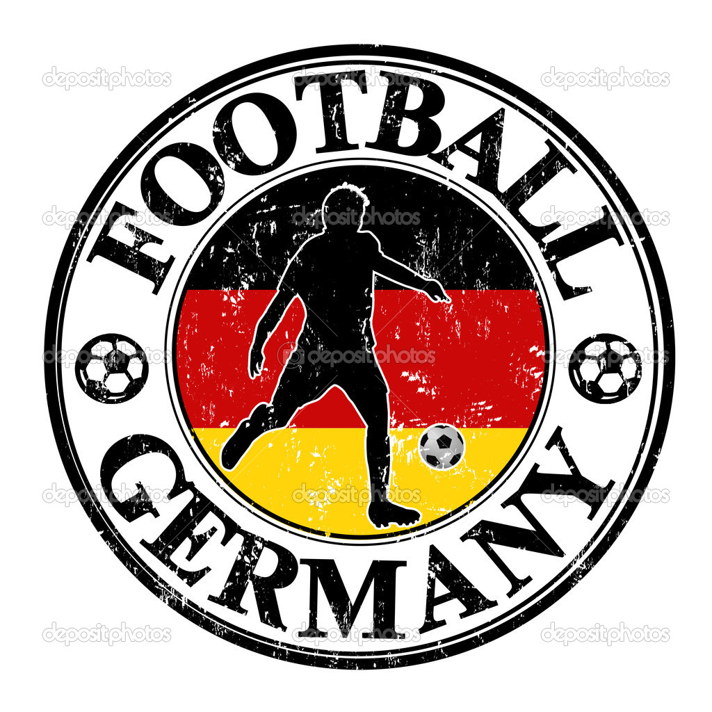Germany Soccer Stamp Stock Vector Roxanabalint 36948835