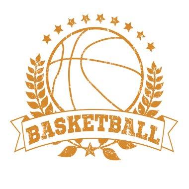 Grunge Basketball Laurel