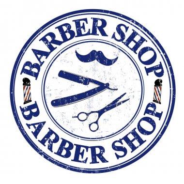 Barber shop stamp