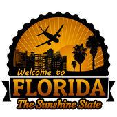 Florida cestování popisek nebo razítko