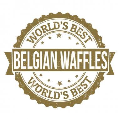 Belgian Waffles stamp