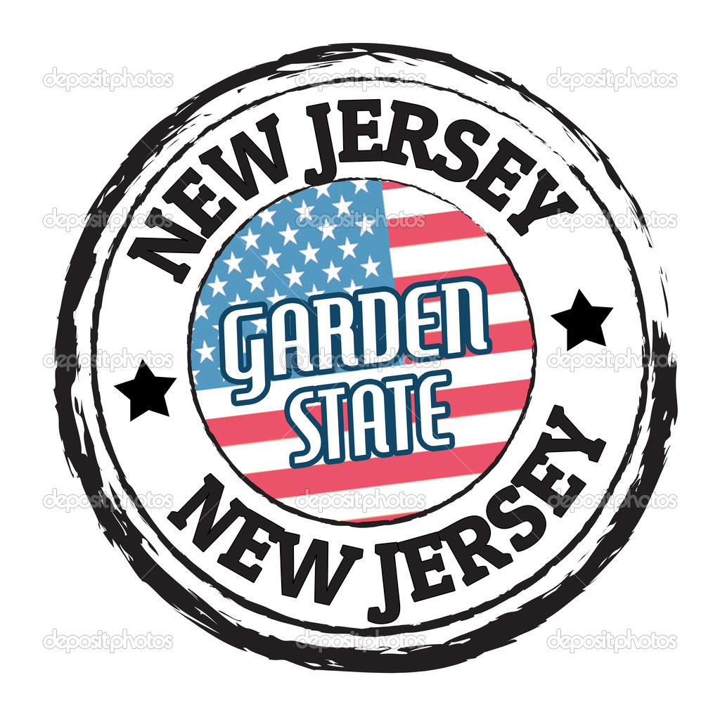 New Jersey Garden State Stamp Stock Vector