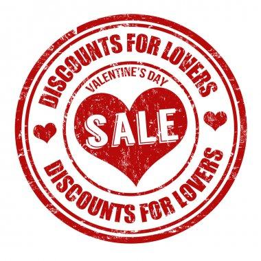 Valentines Day Sale stamp