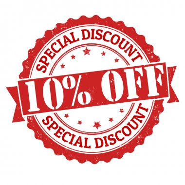 Special discount off stamp