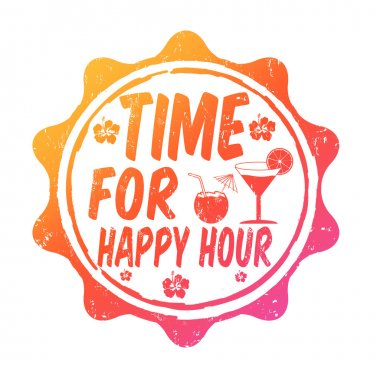 Time for happy hour stamp