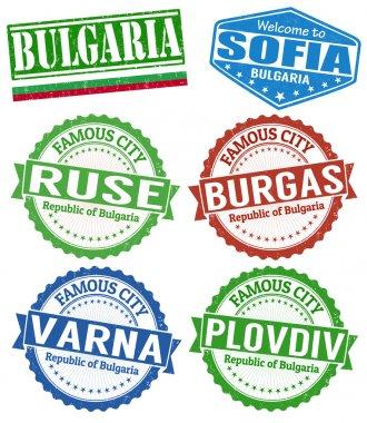 Bulgaria cities stamps set