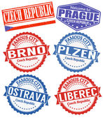 Photo Czech Republic cities stamps set