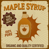 Maple syrup poster