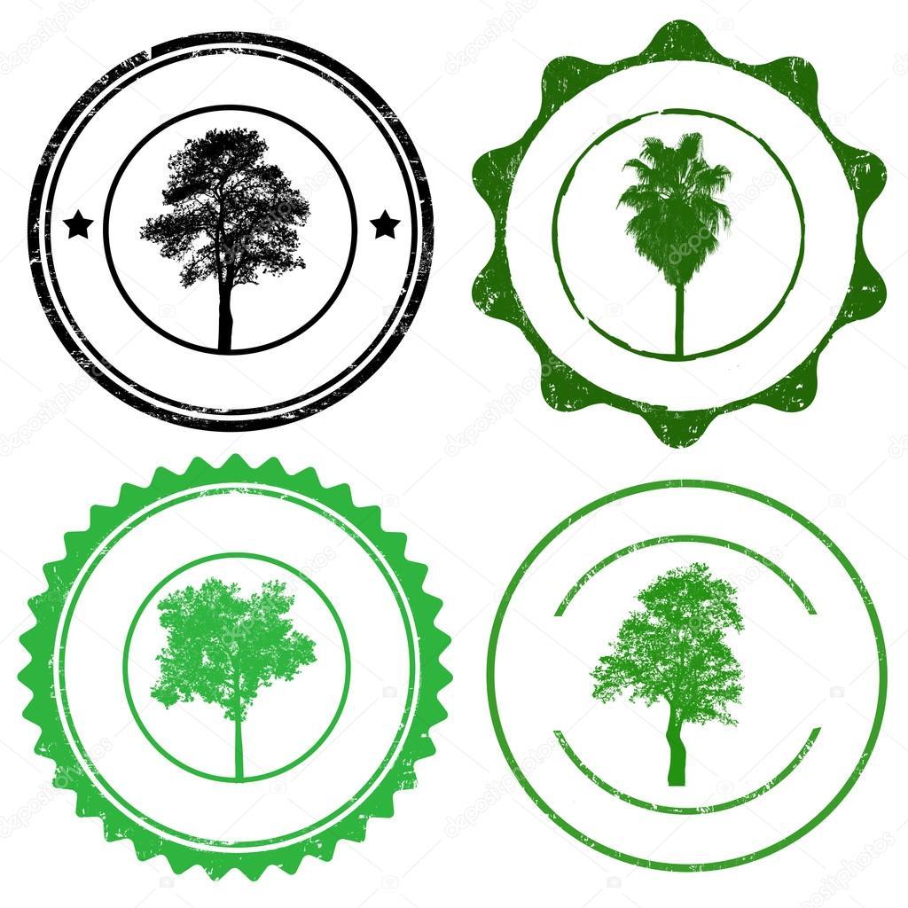 Картинки печатей с деревом