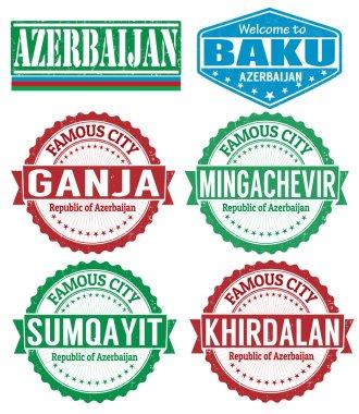 Azerbaijan cities stamps