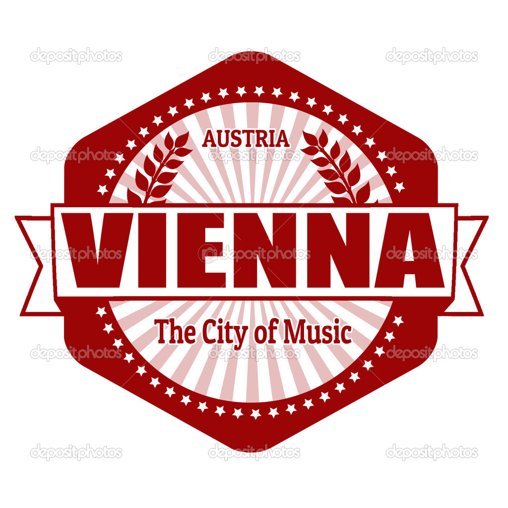 Vienna Capital Of Austria Label Or Stamp Stock Vector