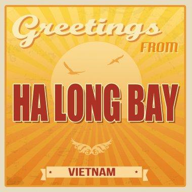 Ha Long Bay vintage poster