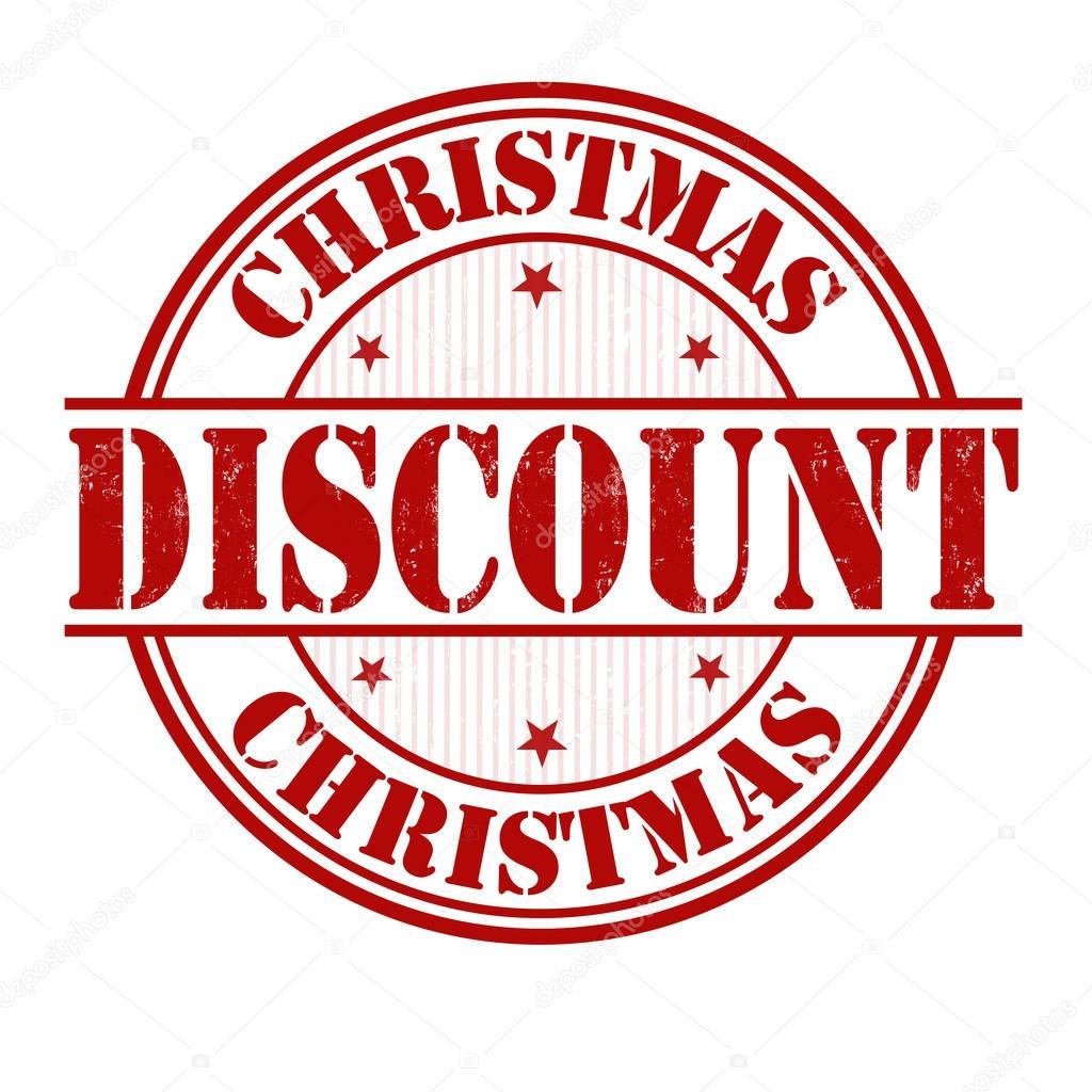 christmas discount stamp stock vector roxanabalint 45580375