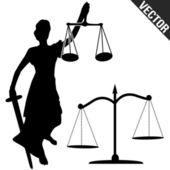 igazságosság-szobor és a skála