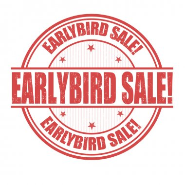 Early Bird Sale stamp